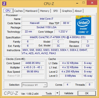 Core i7 Processor 4790K: The overclocking that everyone was