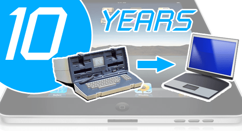 Photo of the journey following the laptop - a decade of mobile
