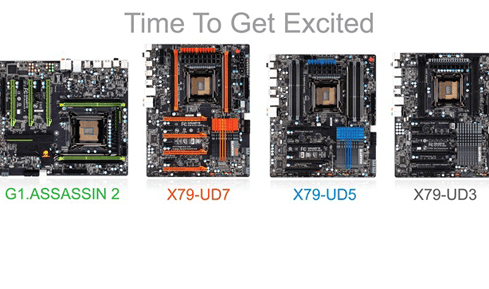 Photo of Gigabyte shows its X79 boards