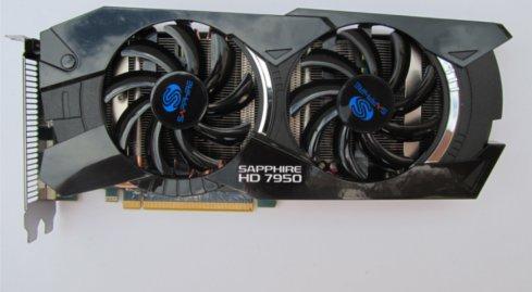 Photo of Sapphire HD7950 Dual-Fan OC - Blue Rising