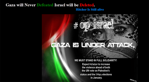 Photo of Fighting goes to Cyber - Anonymous attacks Israeli sites