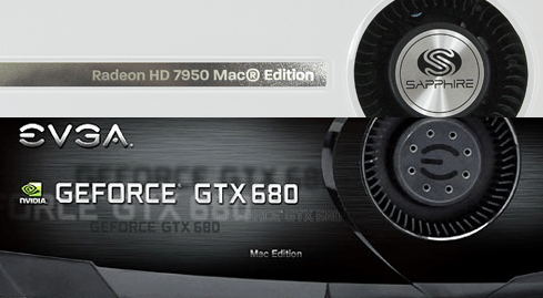 Photo of HD7950 and GTX680 in special versions for Macs