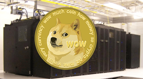 Photo of Harvard supercomputer used for digital currency mining