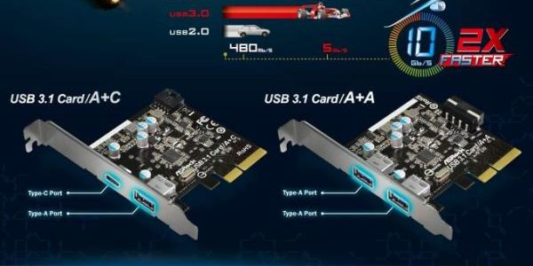 Long live speed: ASRock launches expansion cards and motherboards with USB 3.1