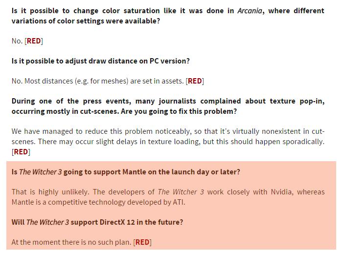 """The Witcher 3 עשוי להתגלות כאחד המשחקים ה""""כבדים"""" ביותר שהגיעו אל המחשבים האישיים - כאשר כרגע גם אין תוכניות באופק לתמיכה ב-DirectX 12 (או ב-Mantle) שיכלה לשנות את המצב"""