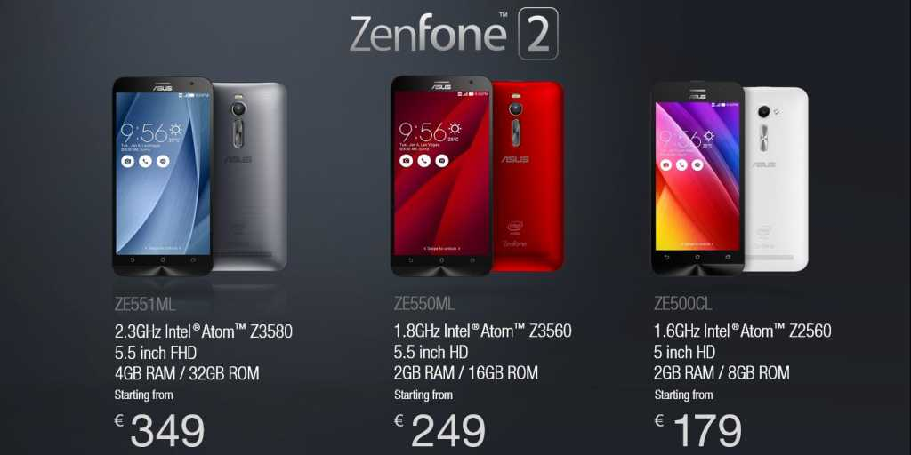 Be careful not to get confused with the cheaper Zenfone 2 models, which are offered with completely different chipsets or with only 2GB RAM