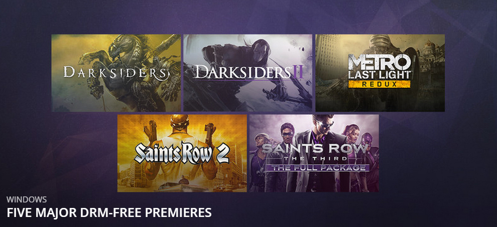 Photo of Welcome to Revolution: Saints Row, Darksiders and Metro land on GOG.com