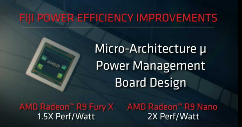 The Fury Nano claims to offer an unprecedented jump in efficiency - even more than we saw in NVIDIA's Maxwell 2.0