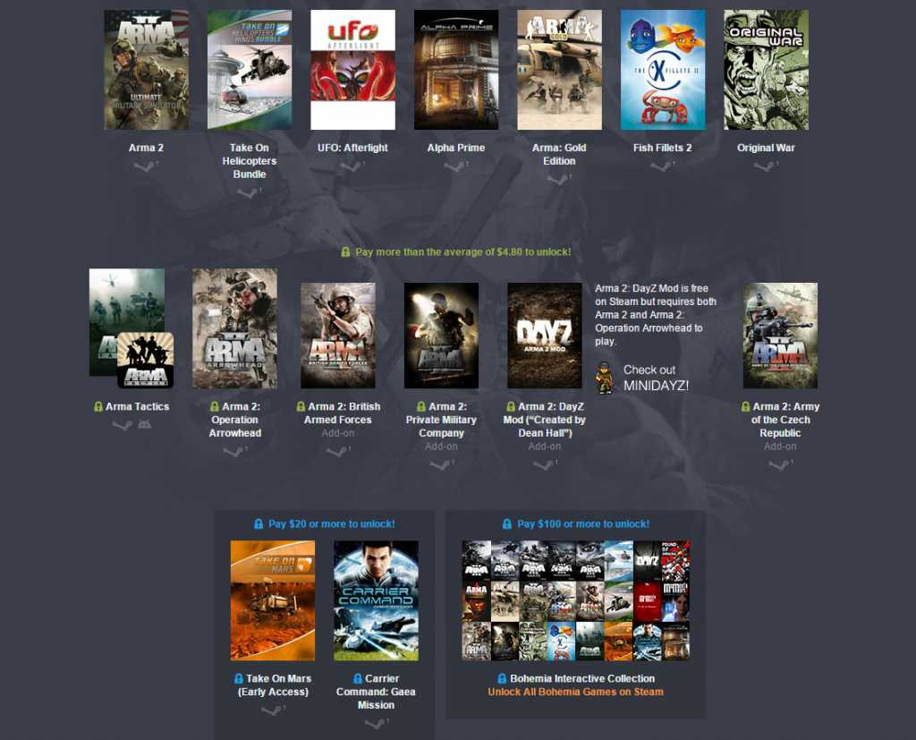 Lots of interesting games, for a few dollars