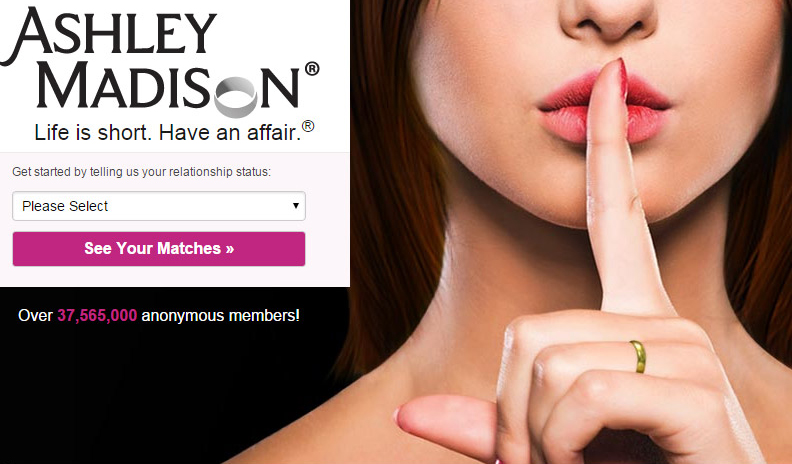 Photo of traitor details on the Ashley Madison website leaked to the Web