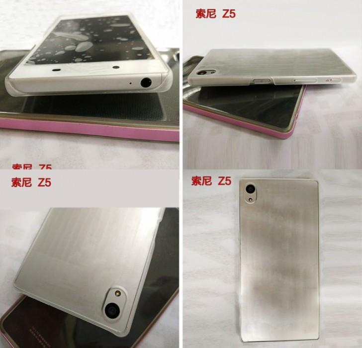 תמונות של ב-Xperia Z5 Premium, שמכונה גם Xperia Z5 Plus במקומות אחרים ברשת, כנראה בעיצוב דמה שאינו סופי