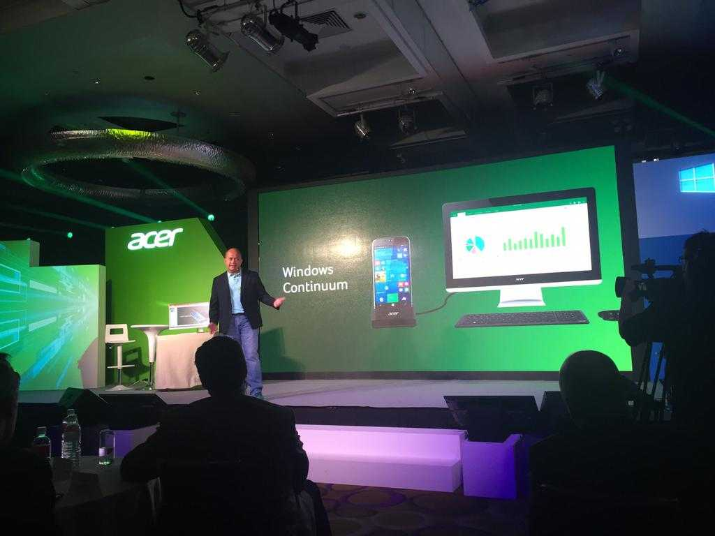 The Ace of the 10 mobile system is probably the Continuum technology - Acer's Ace may be able to run this technology right from the start