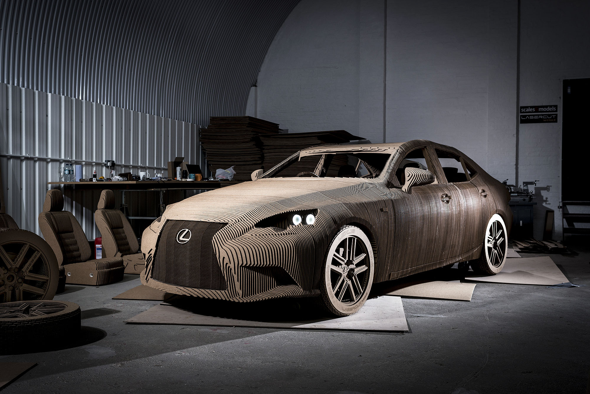 Photo of Watch: Paper SUV and cardboard sports car