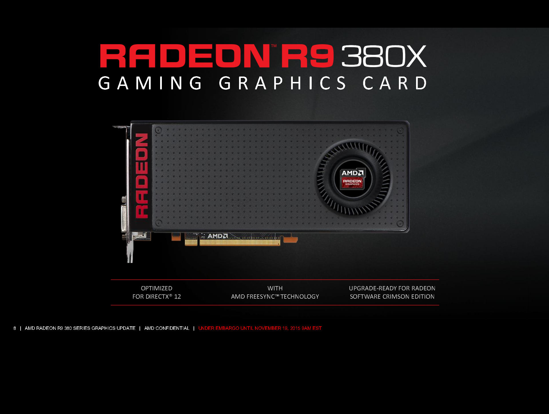 Photo of the Radeon R9 380X launched, with a lower price than expected