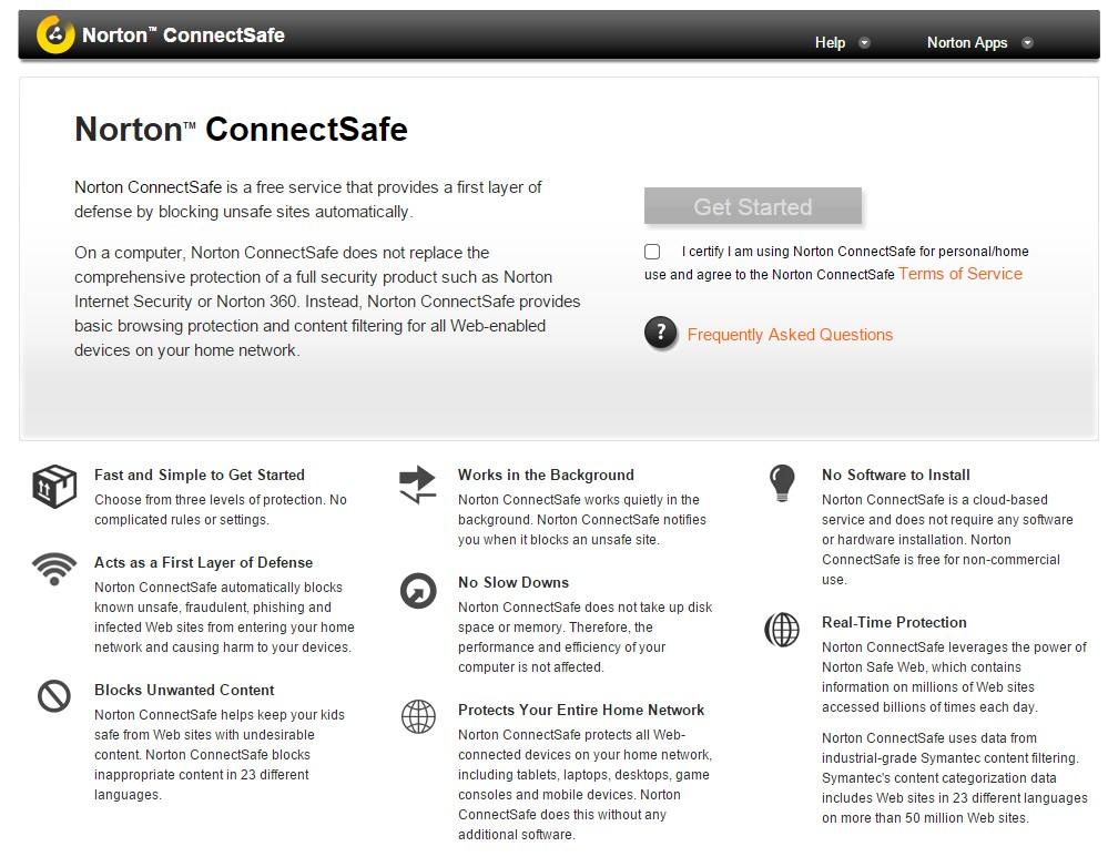 ה-ConnectSafe המתחרה של חברת Norton