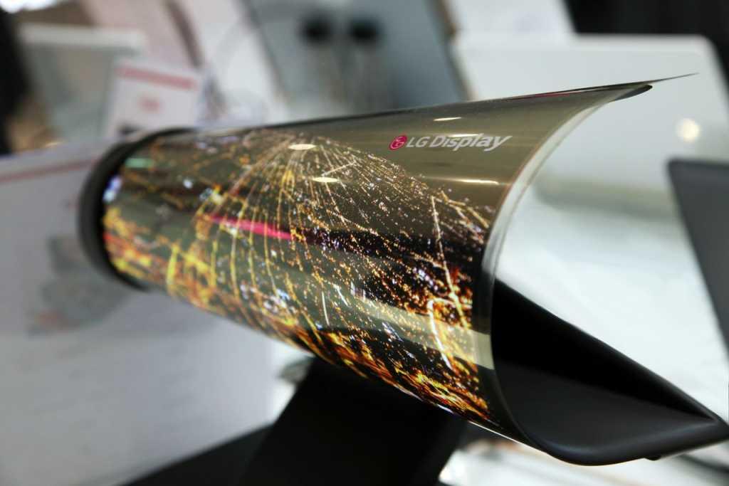 המסך המתגלגל החדש של LG, מודל 2016
