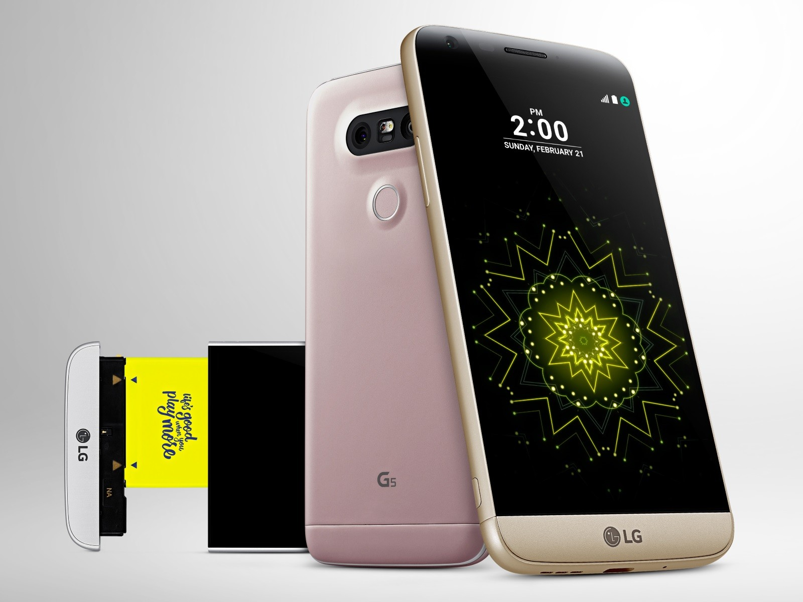 Photo of Innovation Award: The LG G5 smartphone officially launched with a modular structure and lots of friends