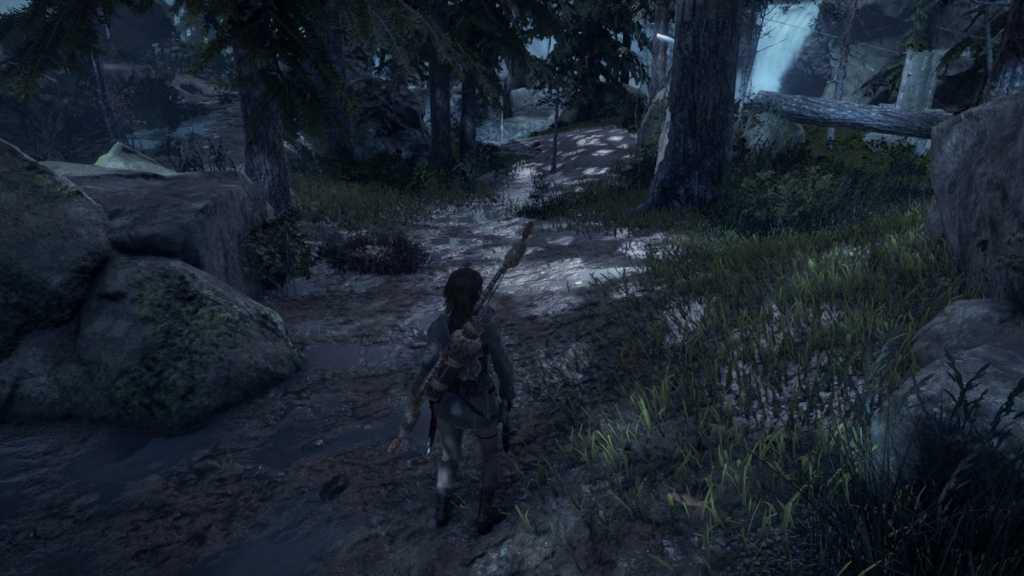 צילום מסך (בפורמט מכווץ) שמנסה להציג את הגדרת ה-SQR בפעולה, אשר משפרת את הרזולוציה ותחושת 'הטבעיות' של אלמנטים מוארים במשחק