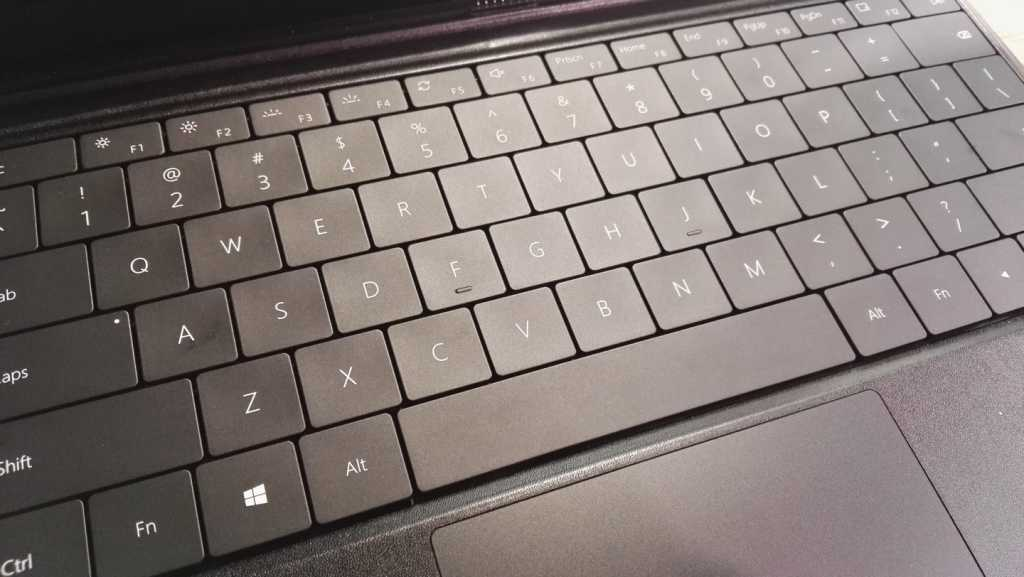 Microsoft's old-style keyboard, rather than the new and improved display at the end of last year