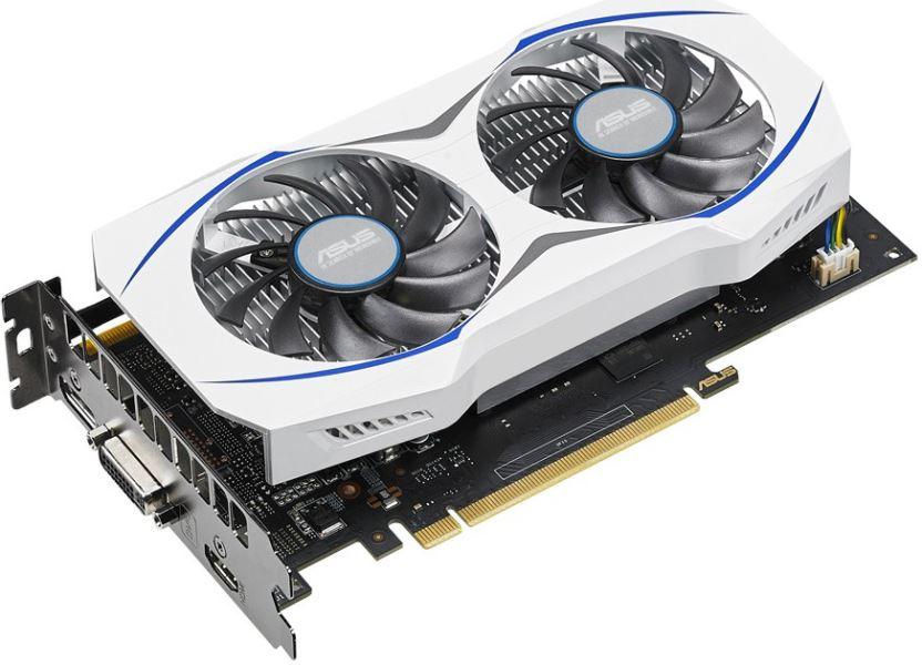 Photo of Asus and NVIDIA show GeForce GTX 950 card that does not need external power connection