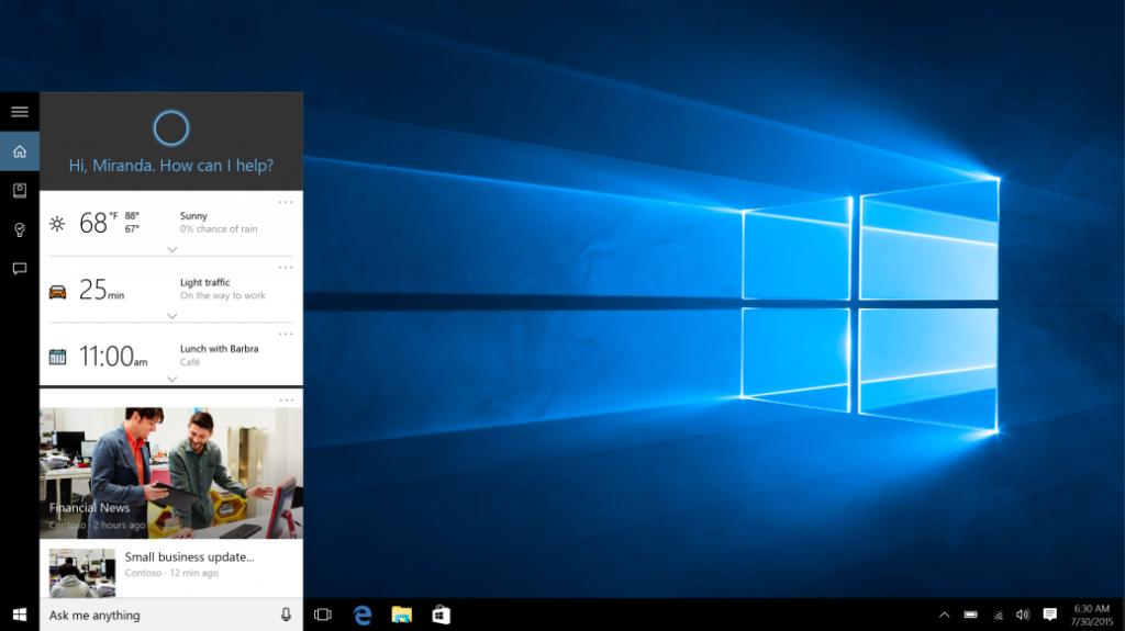 Cortana נכנסת את הגן הסגור של מיקרוסופט