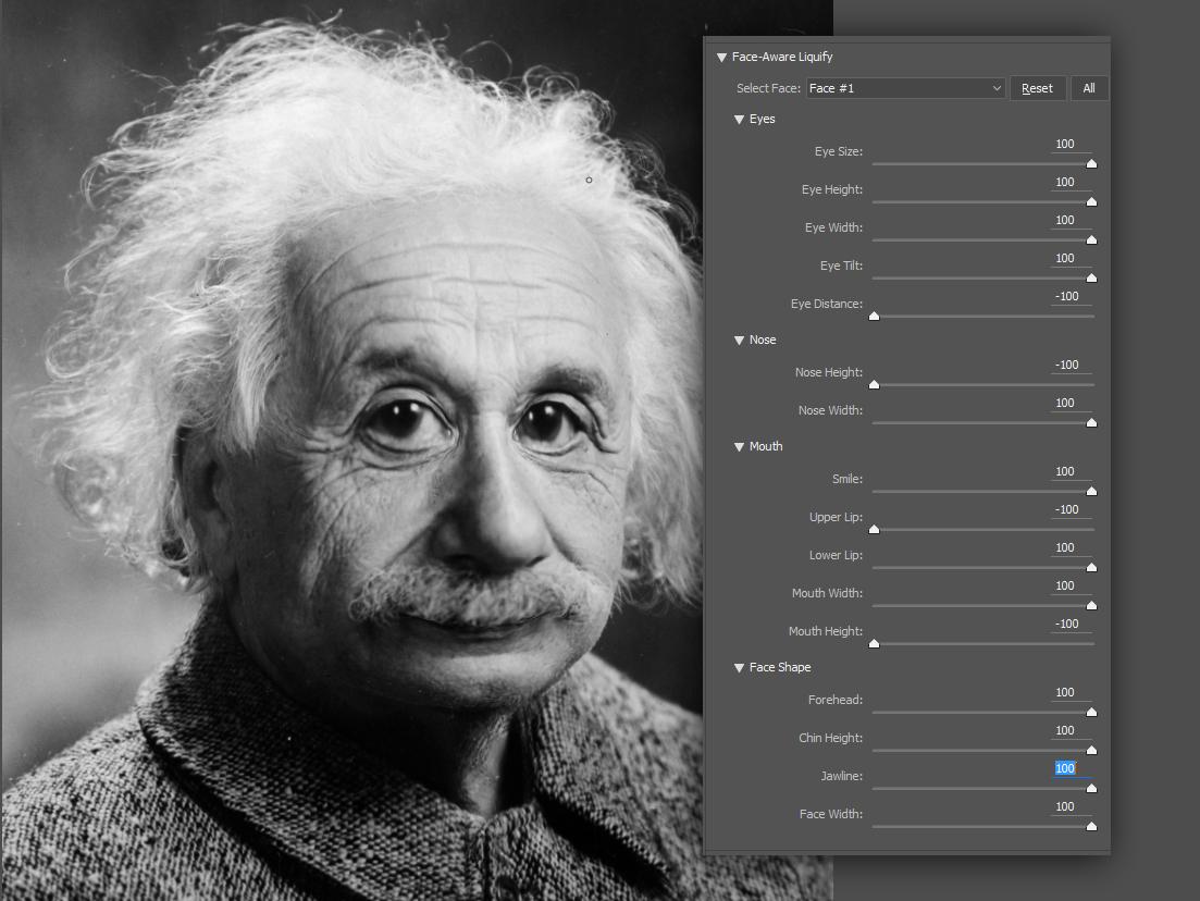 ממשק פוטושופ לזיהוי עיבוד פנים