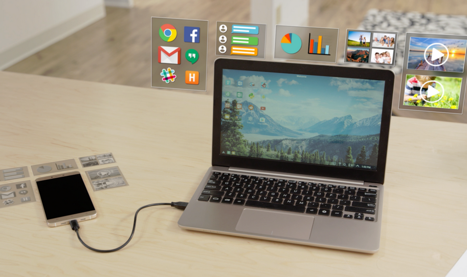 Photo of the Week on Kickstarter: Turn Any Smartphone into a Laptop (Updated)
