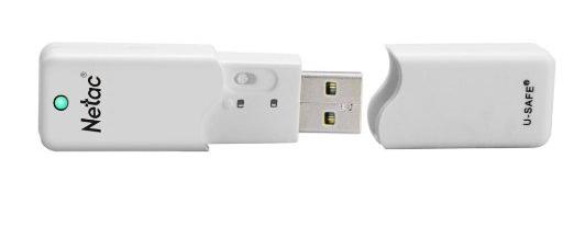 כונן USB של netac עם מתג לקריאה בלבד מתחת למכסה