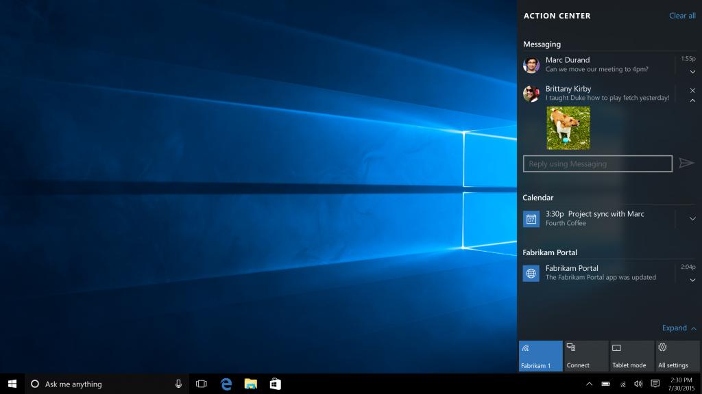 שיפורים למרכז ההתראות של המערכת (תמונה: Microsoft)