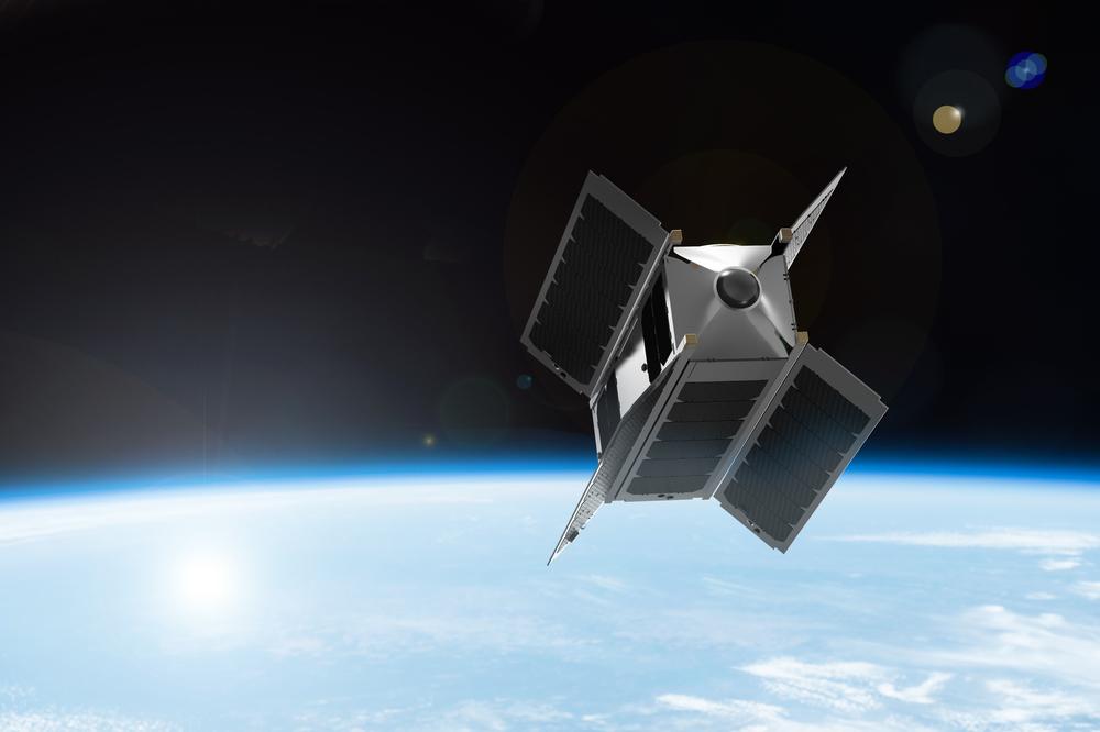 הדמייה של הלווין Overview 1 בחלל