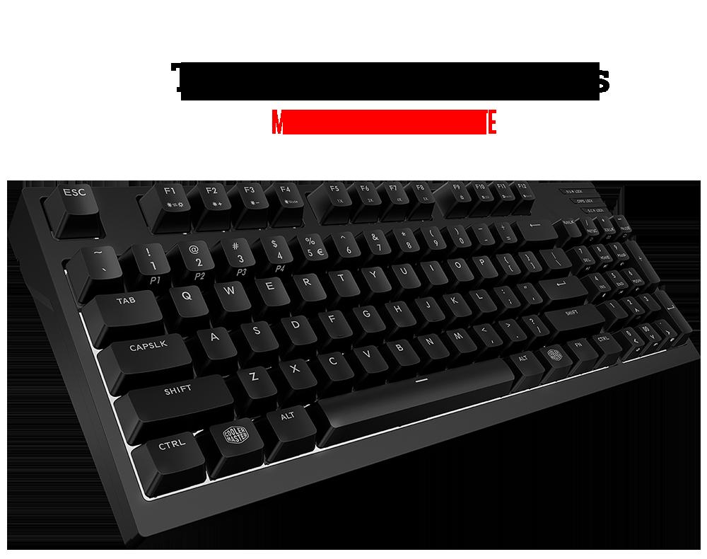 The MasterKeys Pro M White keyboard