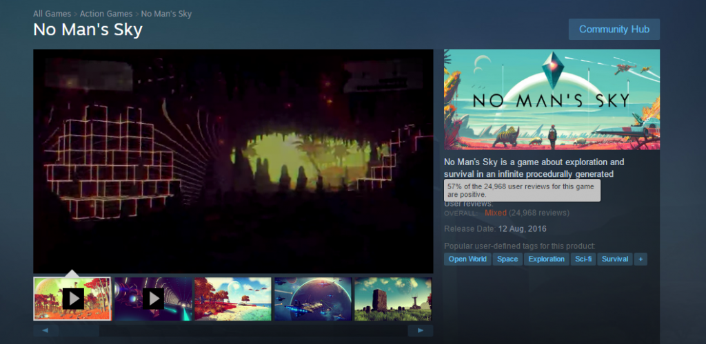 The score for the Steam game is on the rise after many temporary fixes have been posted and posted over the last few hours - but still low and disappointing