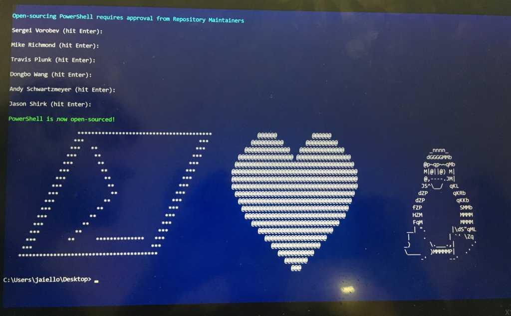 העלאת קוד המקור לגיטהאב דרך פקודת PowerShell (צילום מסך: אנג'ל קלבו, מיקרוסופט)