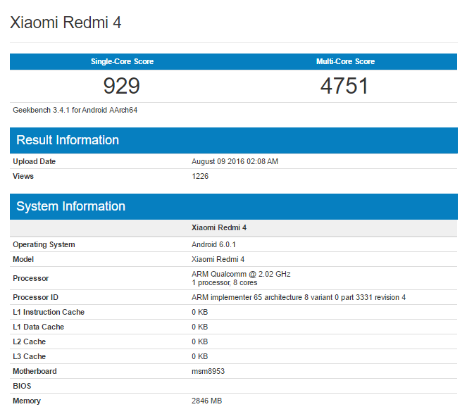 Not bad performance compared to Redmi 3 - along with a big improvement in power consumption, we hope