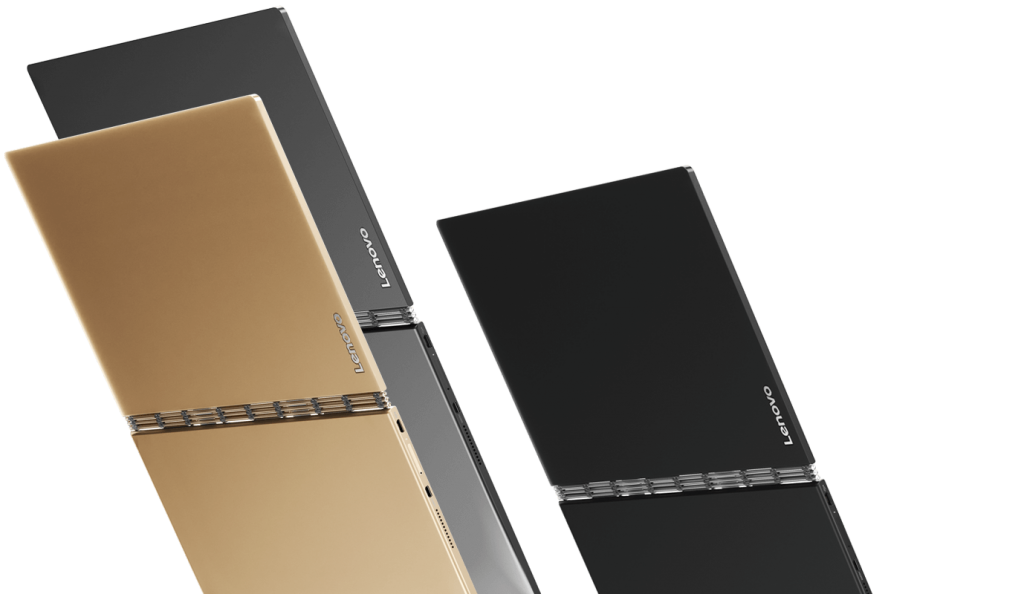 The Yoga Book is available for early purchase in gray, black, or 'champagne'