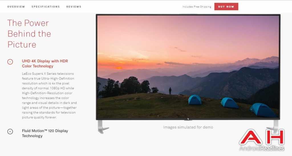 LeEco מתכננת להציע גם טלוויזיות חכמות מתקדמות במחירים משתלמים לאמריקאים מקור: androidheadlines.com