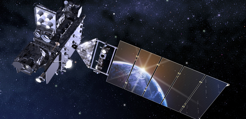 Simulation of GOES-R satellite in space