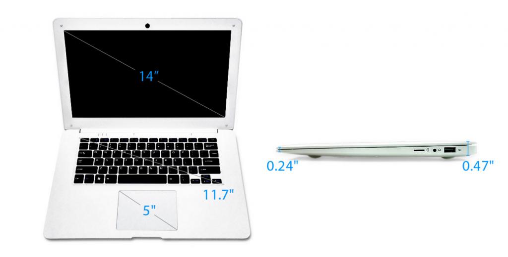 מראה שמזכיר במעט את ה-MacBook Air - אבל מיועד לעלות בערך עשירית ממנו