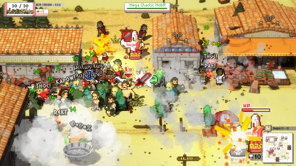 Okhlos, one of the cheap Devolver Digital games