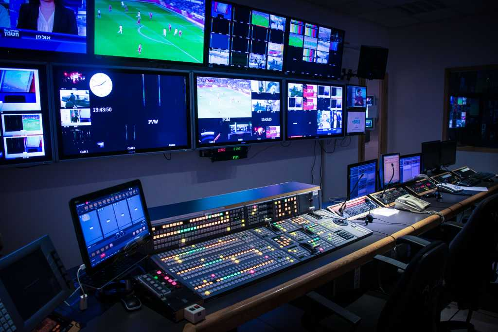 HD studio routing and control room