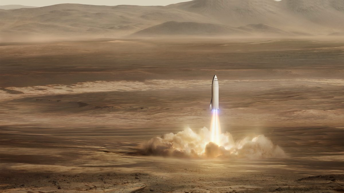 Photo of SpaceX's Mars City