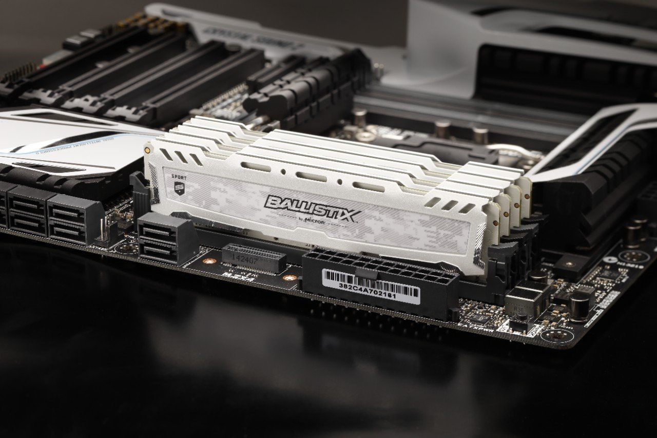 Crucial quality DDR4 memories at the lowest price
